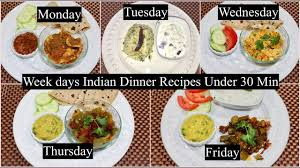indian dinner recipes under 30 minutes