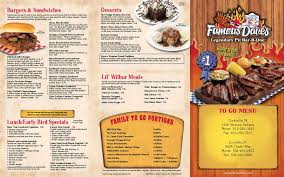 menu at famous dave s bbq clarksville