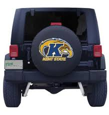 Kent State University Tire Cover With Golden Flash Logo