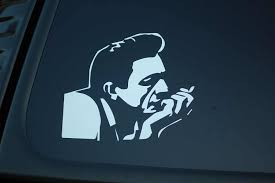 For Johnny Cash Cigarette Vinyl Sticker Decal V286 Country Choose Color Size Car Styling Car Stickers Aliexpress