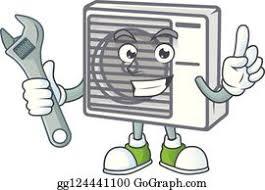 air conditioner repair cartoon