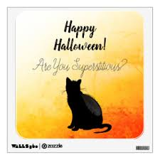 Black Cat Silhouette Wall Decals Stickers Zazzle