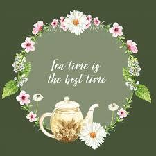 herbal tea wreath with aster tea pot