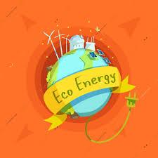 cartoon globe eco vector ilration