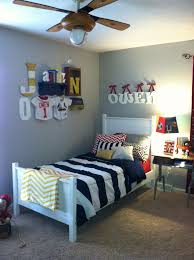 Vintage Boys Room Sports Navy Red Yellow Love The Navy Stripe Boy Bedroom Design Boys Room Colors Sports Themed Bedroom