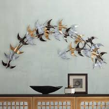 Seagulls 40 Wide Birds Metal Wall Art 38m22 Lamps Plus