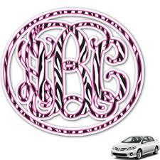 Custom Monogram Car Decals Design Preview Online Youcustomizeit