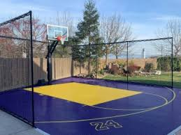 Gallery Of Backyard Court And Home Gym Installations Featuring Snapsports