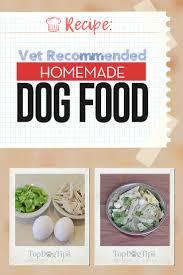 vet remended homemade dog food