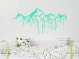 Amazon Com Geometric Mountain Wall Decals Mountains Nursery Wall Stickers Arrow Vinyl Stickers Mountains Wall Art Boys Bedroom Decor C713 Handmade