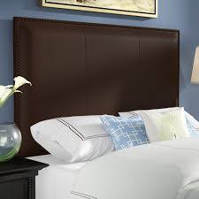 leather upholstered panel headboard