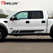1 Pair Auto Car Both Sides Stickers Decal Decoration Car Accessories For Ford Ranger Raptor F150 F250 F350 F450 F550 F650 Pickup Car Stickers Aliexpress