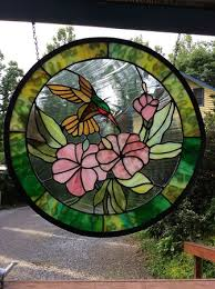 22 diameter leaded glass window design