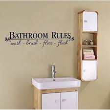 Decal Bathroom Rules 2 Wall Decal Home Decor 6 5 X 27 Walmart Com Walmart Com