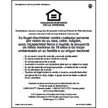 Equal Housing Opportunity Hud V1 Spanish White Acrylic Mfblouin