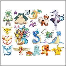 Pokemon Go Iconic 20 Wall Decals Kids Room Decor Pikachu Mural Vinyl Stickers Wish