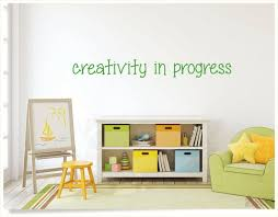 Kids Creativity Wall Decal Childs Playroom Decor Inspiring Etsy