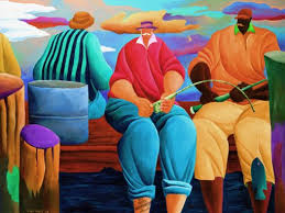 Pier Fishing by Ivey Hayes (1224) - Islands Art & Bookstore
