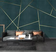 Bacaz Custom Concrete Geometric Wallpaper 3d Wall Sticker For Living Room Background 3d Geometric Wall Decor Print 3d Wall Mural Gallery Wallrus Free Worldwide Shipping