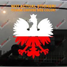 Polska Eagle Decal Sticker Coat Of Arms Of Poland Herb Polski Polish Flag Vinyl Pick Size Color Die Cut No Background Car Stickers Aliexpress