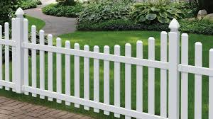 Veranda Glendale 4 Ft H X 8 Ft W White Vinyl Scalloped Top Spaced Picket Unassembled Fence Panel With 3 In Dog Ear Pickets 153150 The Home Depot In 2020 Front