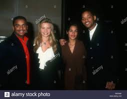LOS ANGELES, CA - DECEMBER 8: (L-R) Actor Alfonso Ribeiro, model Gabrielle  Tuite, Sheree Smith and actor Will Smith attend the 'Six Degrees of  Separation' Los Angeles Premiere on December 8, 1993