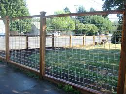 This Is A Nice Contemporary Style Of Fence Incorporating Heavy Duty Galvanized Steel Wire Pressure Treated Posts Cheap Fence Backyard Fences Welded Wire Fence