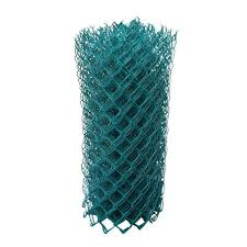 Protecto Fence 5 Ft X 50 Ft 11 1 2 Gauge Green Vinyl Coated Cyclone Fence 01 115 005 The Home Depot