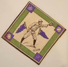 1914 B18 IVY Olson early baseball Tobacco felt blanket Cleveland Purple  Pennants - $79.00 | PicClick