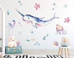 Narwhal Wall Decal Etsy