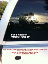 Don T Wish For It Work For It Wall Decal Motivational Quote Art Decal Stickers For Sale Online Ebay