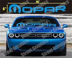 Challenger Ram Mopar White Outline Window Decal Charger Or Any Dodge Model