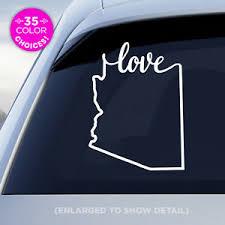 Arizona State Love Decal Az Love Car Vinyl Sticker Add A Heart Over A City Ebay