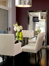 decorate dining rooms with large mirrors