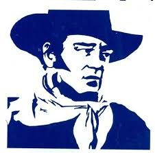 Western Texas John Wayne Paniolo Car Window Vinyl Decal Sticker 10143 Cowboy