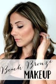 beach bronze makeup and au naturale