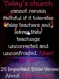 important bible verses about false teachers must