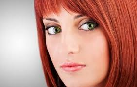 eye shadow for green eyes and red hair