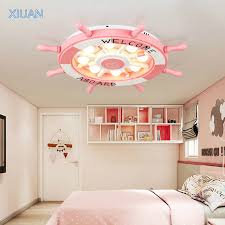 Kids Room Chandeliers Kids Room Chandeliers Wooden Rudder 3 Color Temperature Led Pink Sky Blue Ceiling Lamp For Girls Boys Home Decor Best Home Decor Online Store
