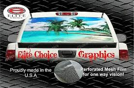 Car Truck Graphics Decals Auto Parts And Vehicles Beach Scene 3 Palm Tree Ocean Rear Window Decal Graphic Truck Suv Van Hairli Hr