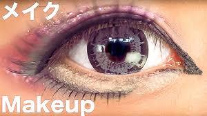big eyes anese kuro gyaru makeup