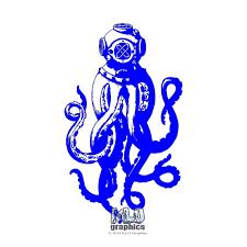 Deep Sea Diver Vinyl Sticker Decal Ocean Scuba Dive Ocean Commercial Diving Deep Sea Diver Deep Sea Under The Sea