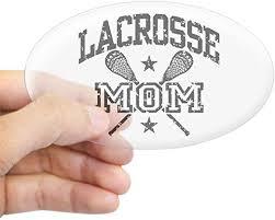 Amazon Com Cafepress Lacrosse Mom Oval Bumper Sticker Euro Oval Car Decal Home Kitchen