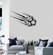 Vinyl Wall Decal Soccer Team Sport Ball Boys Room Interior Stickers Mu Wallstickers4you