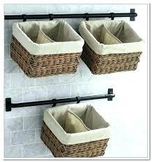 wall mounted storage baskets