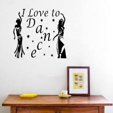 Amazon Com Accent Wall Decor Sticker Music Dance Wall Decal Girls Dancing I Love To Dance Quote Wall Sticker Girls Bedroom Living Room Decoration Home Kitchen