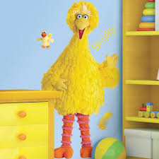 Sesame Street Big Bird Peel Stick Giant Wall Decal Peel And Stick Decals The Mural Store