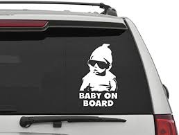 Amazon Com Baby On Board Car Decal Funny Car Decal Baby In Car Decal Baby On Board Car Sticker Funny Baby Sunglasses Decal Home Kitchen