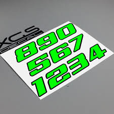 Xgs Decal Car Sticker Number Neon Fluorescent Double Layer Vinyl Cut Motorcycle Atv Helmet Sticker Outdoor Decal Car Stickers Aliexpress