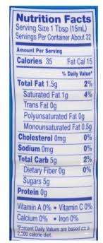 coffee mate nutrition label best